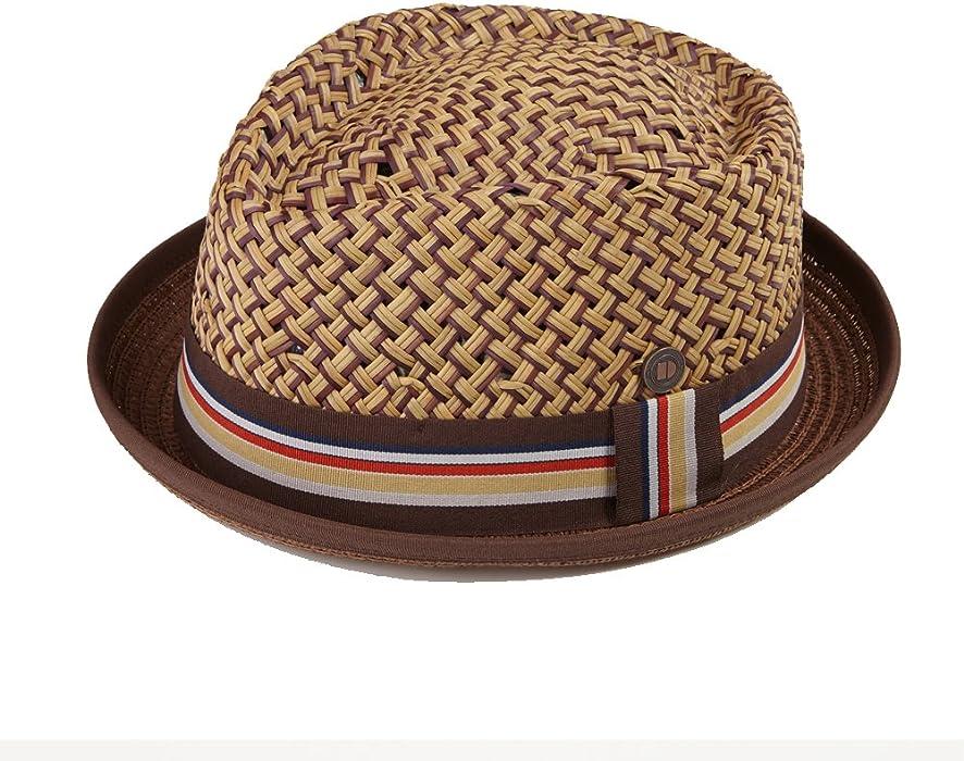 f0110c92d635a Dasmarca Mens Summer Straw Retro Porkpie Hat - Max Brown S at Amazon ...