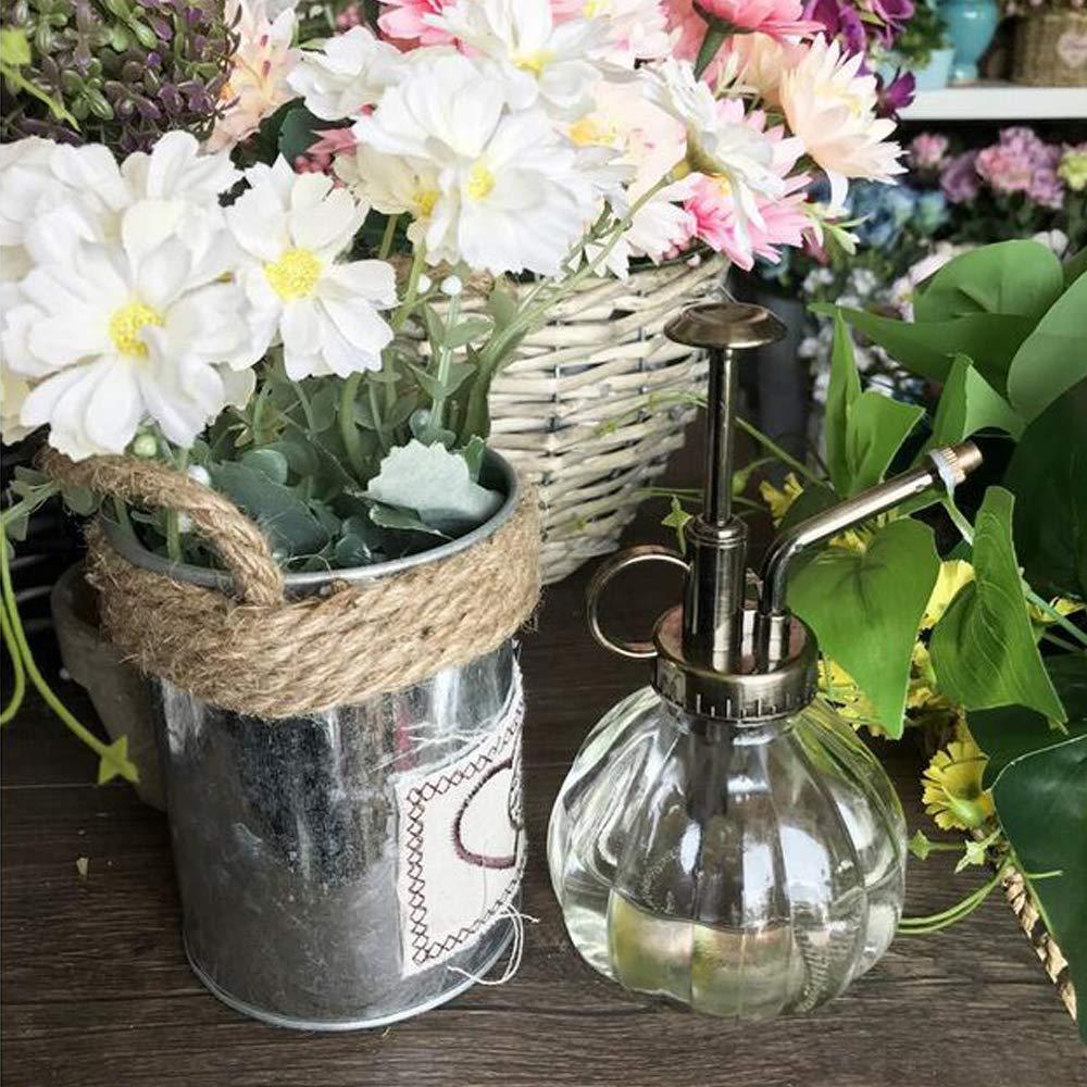 bemodst® 1 PC Colored Stripes Vintage Maceta decorativa de cristal Regadera pulverizador a presión para plantas bonsai Flores Herramientas de Jardinería, ...
