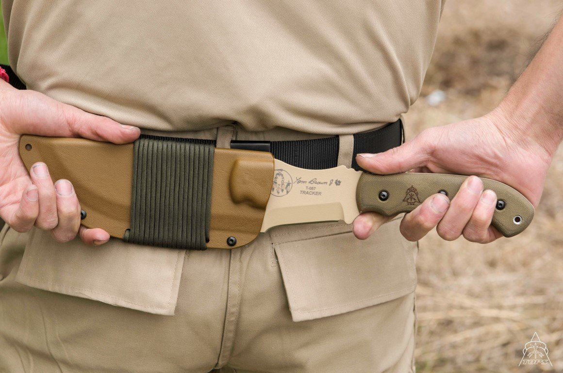 Tops Knives Tom Brown Tan Tracker Fixed Blade Knife by Tops Knives (Image #5)