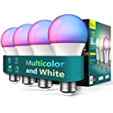 Treatlife Smart Light Bulbs 4 Pack, Music Sync Color Changing Light Bulbs, Works with Alexa, Google Assistant, A19 LED Dimmab