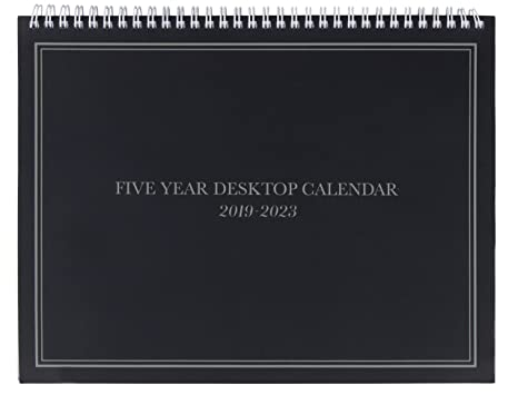 5-Year Calendar Planner - 2019-2023 Monthly Schedule Organizer Desktop Flip Calendar with Tabs, Top Spiral Bound, 5 Year Agenda, 11 x 8.5 inches
