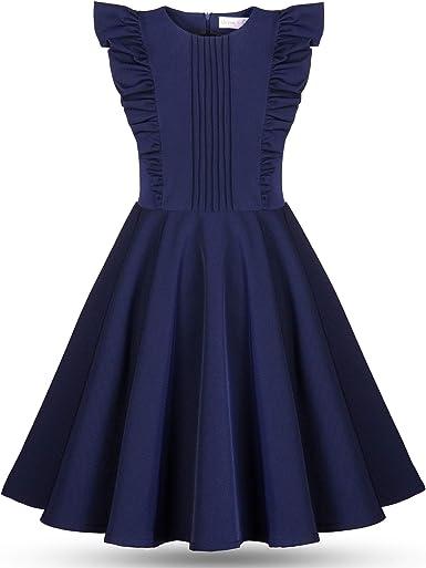Vestido Elegante Formal para Niñas Jóvenes Adolescentes Azul - Sin ...