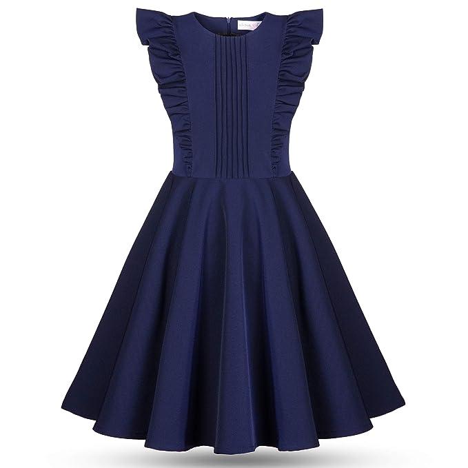 online store 06f16 8be93 Abito Elegante Blu per Ragazze senza Maniche - Gonna ...