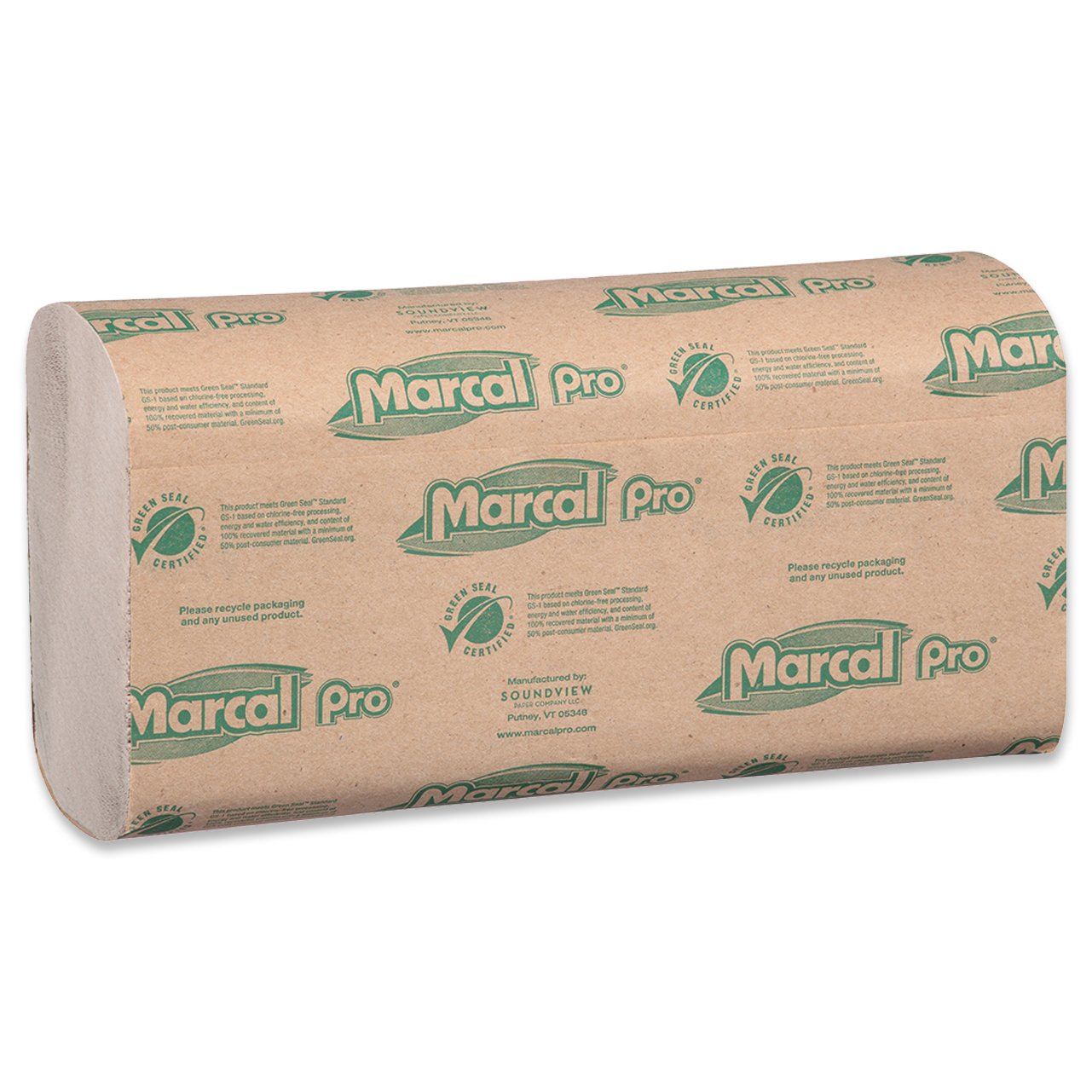 Amazon.com: Marcal Pro Multi-Fold Paper Towels, 100% Recycled, 1-Ply, Natural Color Hand Towels, 250 Per Pack, 16 Packs per Case for 4000 Total Green Seal ...