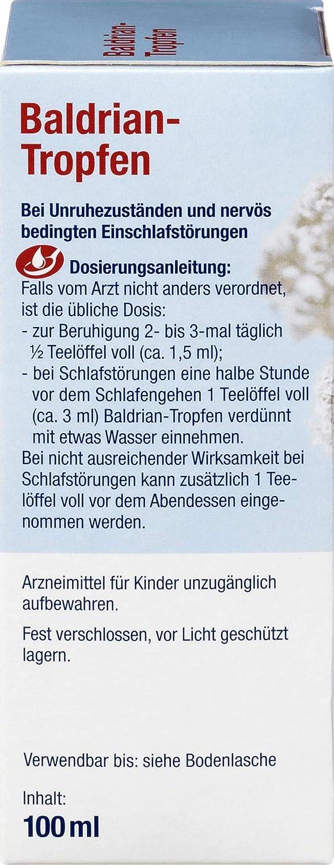 Amazon.com: Valerian, German Baldrian-Tropfen, 100 ml - 3.3 oz Bottle: Health & Personal Care