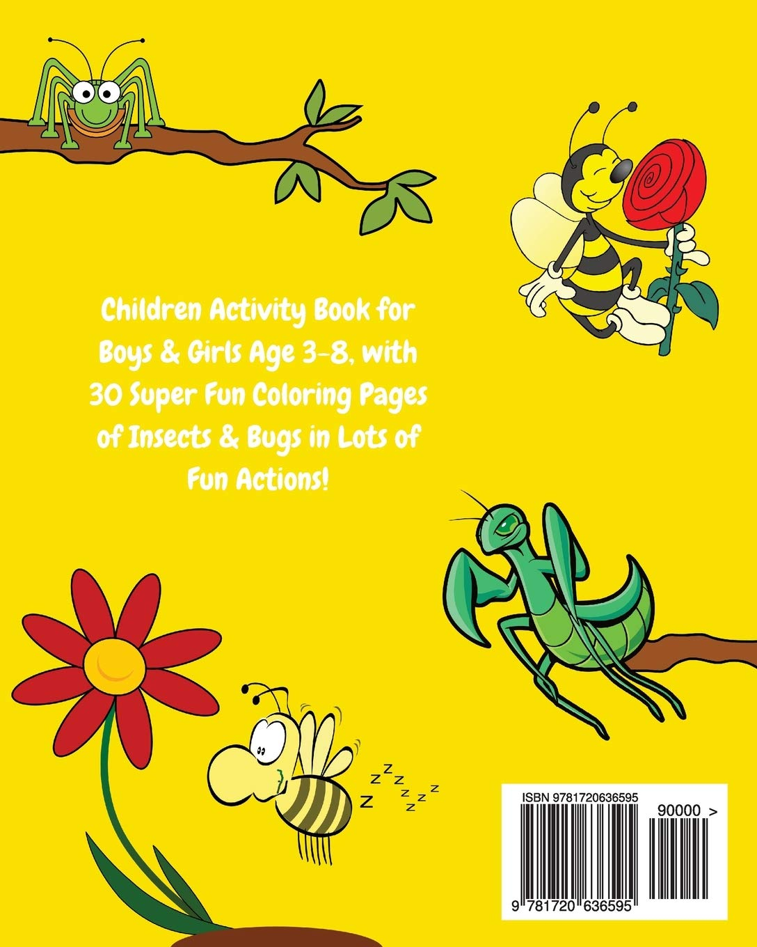 Bugs Kids Coloring Book +Fun Facts for Kids about Bugs & Insects ...   1360x1088