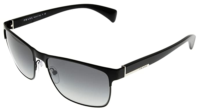ed0555ee44fb Image Unavailable. Image not available for. Colour  Prada Sunglasses Men  Matte Black Rectangular ...