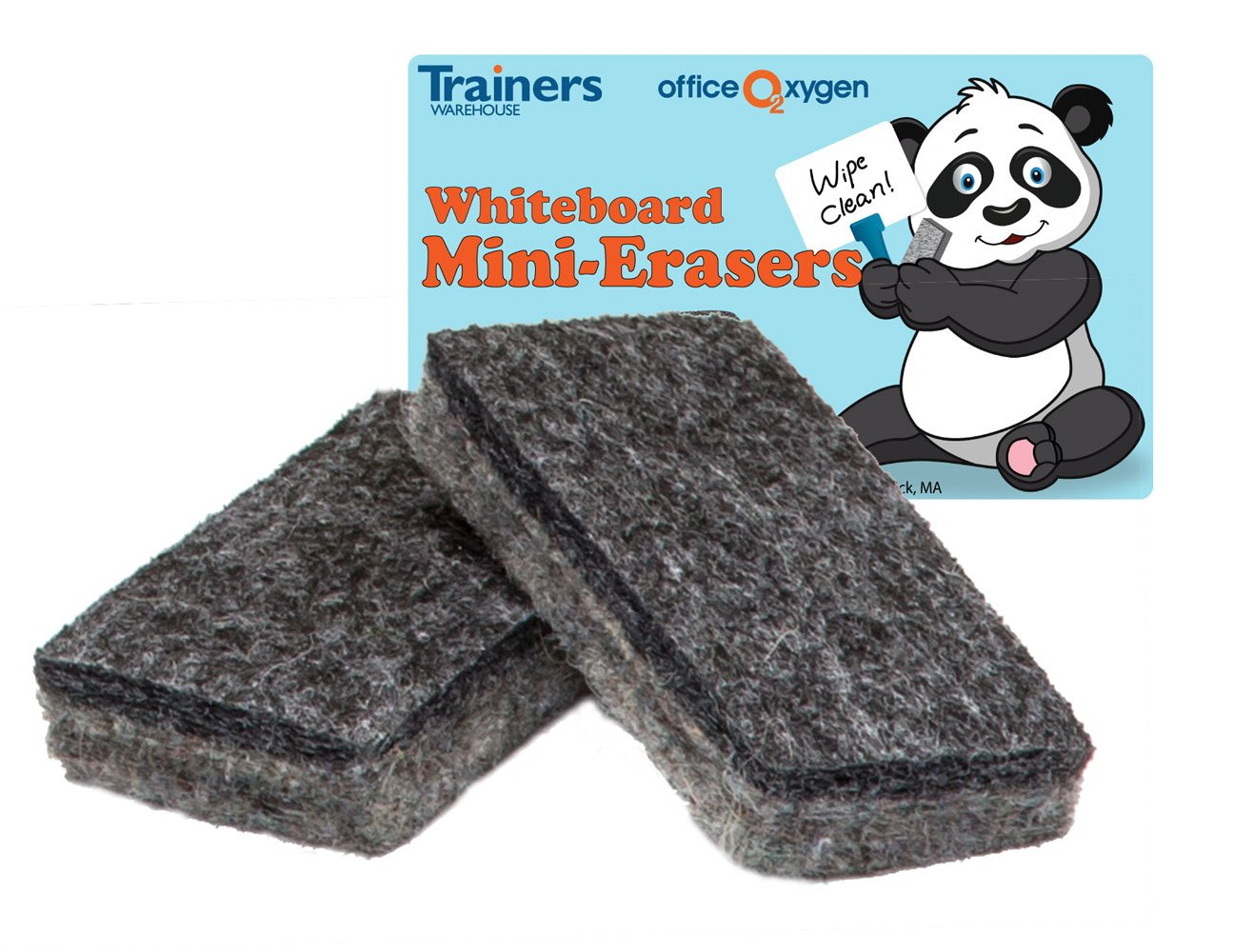 Mini Erasers for Whiteboard Dry-erase, set of 30 erasers, 2.5'' long, for classroom and office