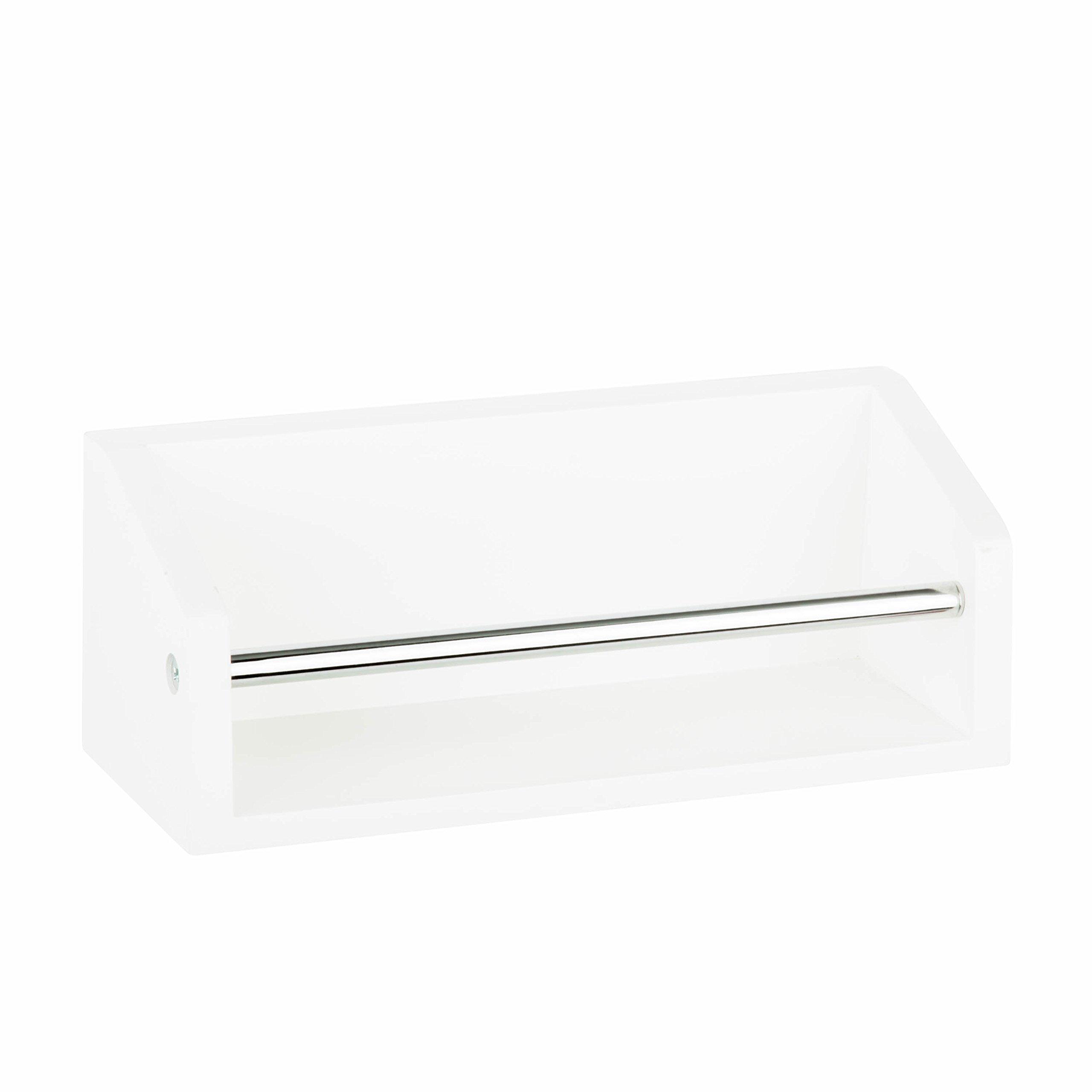 Honey-Can-Do SHF-04379 Wall Shelf with Chrome Bar
