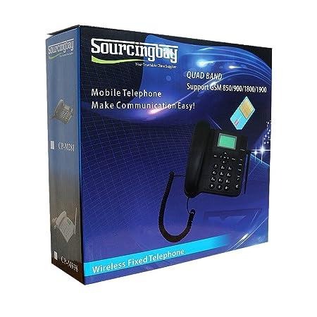Amazon.com: Sourcingbay – M281 GSM inalámbrico Teléfono fijo ...