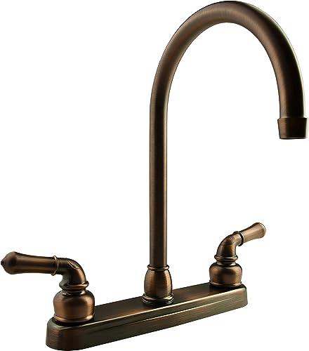 Dura Faucet DF-PK330HC-ORB RV J-Spout Kitchen Faucet Oil-Rubbed Bronze