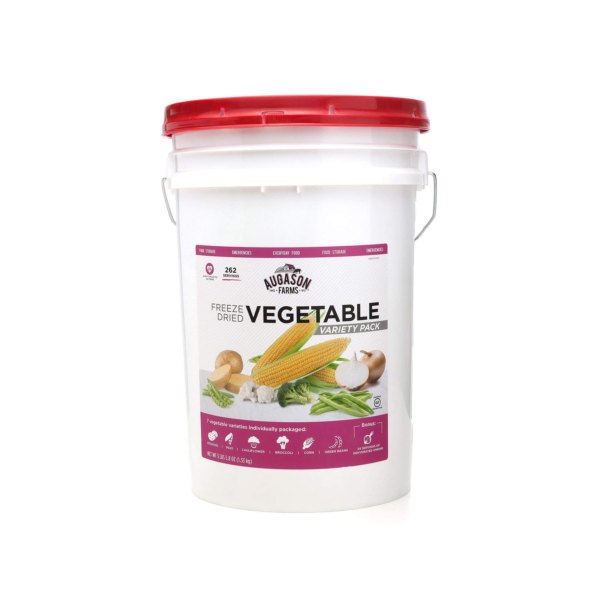 An Item of Augason Farms Freeze-Dried Vegetable Variety Pail (3 lbs. 5.8 oz.) - Pack of 1