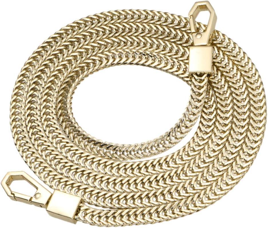 47 diy bolsa de repuesto cadena correa de metal bolso bolso cadenas accesorios correas monedero hombro cruzado correas de repuesto - dorado claro