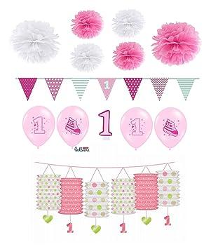 Feste Feiern Geburtstagsdeko 1 Geburtstag Mädchen 13 Teile All In