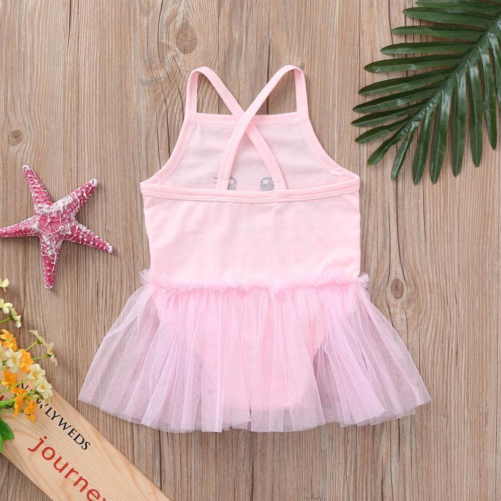 Efaster Baby Girls Tutu Dress Newborn Toddler Baby Girls Cartoon Tiger Print Tutu Strap Romper Jumpsuit Outfits