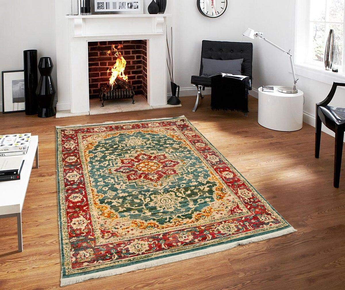 Rosette Imprint Vintage Area Rug - Refresh your home decor: Breathe new air to your living room, dining room, bedroom or kitchen, with a beautiful, modern and elegant area rug that will certainly catch your guests' eye and impress them when they come to visit! Choose your favorite piece: Msrugs soft area rugs come in a large variety of colors and patterns, such as oriental, modern and traditional, so you can choose the one or ones that best fit your home's style and your personal taste! OFFER THEM TO THE ONES YOU LOVE: Whether as a housewarming gift to your daughter or as a nice surprise for your significant other, our beautiful area carpets are the most perfect present you can think of; practical, thoughtful, stylish and at a rockin' price! - living-room-soft-furnishings, living-room, area-rugs - 71XlLqRnf L -