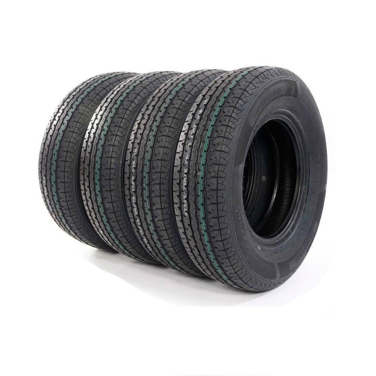 MILLION PARTS 4 Load Radial Trailer Tires ST225/75R15 10 Ply Load Range E