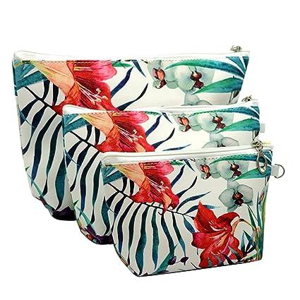 Amazon.com: Ghope – Paquete de 3 bolsas de cosméticos ...