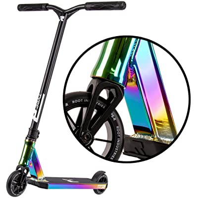 ROOT INDUSTRIES Type R Complete Pro Scooter - Pro Scooters - Pro Scooters for Adults/Pro Scooters for Kids - Quality Scooter Deck, Pro Scooter Wheels, Pro Scooter Bars - Awesome Colors (Rocket Fuel): Sports & Outdoors
