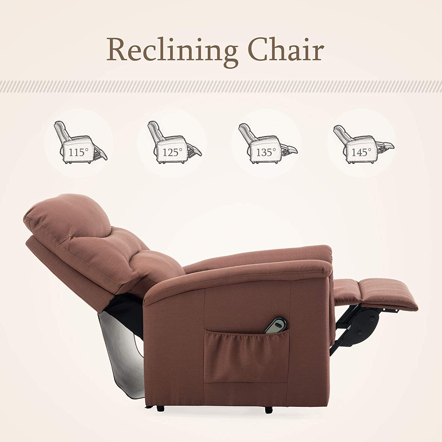 Mecor Power Lift Chair for Elderly Electric Lift Chair Recliner with Remote Control Fabric Recliner Chair Living Room Sofa Chair with Heavy Duty Reclining Mechanism
