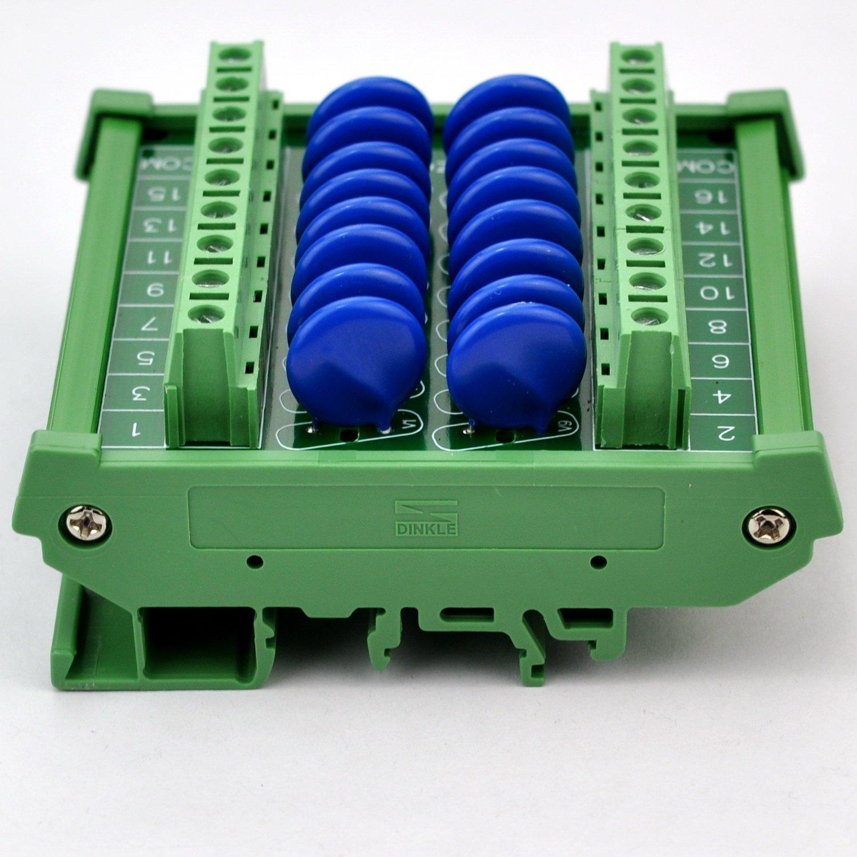 Chunzehui DIN Rail Mount 275V SIOV Metal Oxide Varistor Interface Module, 16 Channels Common. by Chunzehui (Image #7)