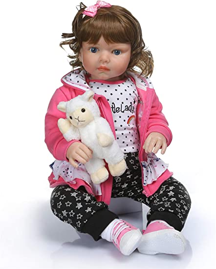 "Lifelike Realistic Reborn Handmade Vinyl 28/"" Reborn Toddler Doll Girls/' Play Toy"