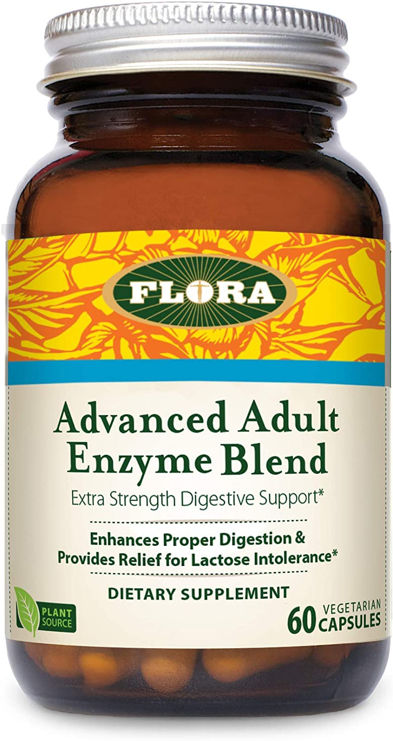 FLORA - Advanced Adult Enzyme Blend, Digestive Enzymes, Vegan, 60 Count