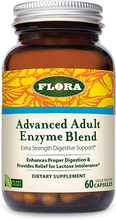 FLORA - Advanced Adult Enzyme Blend, Digestive Enzymes, Vegan, 60 Count