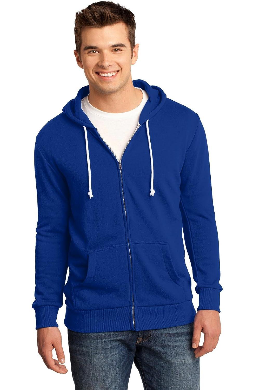 District Mens Young Core Fleece Full Zip Hoodie
