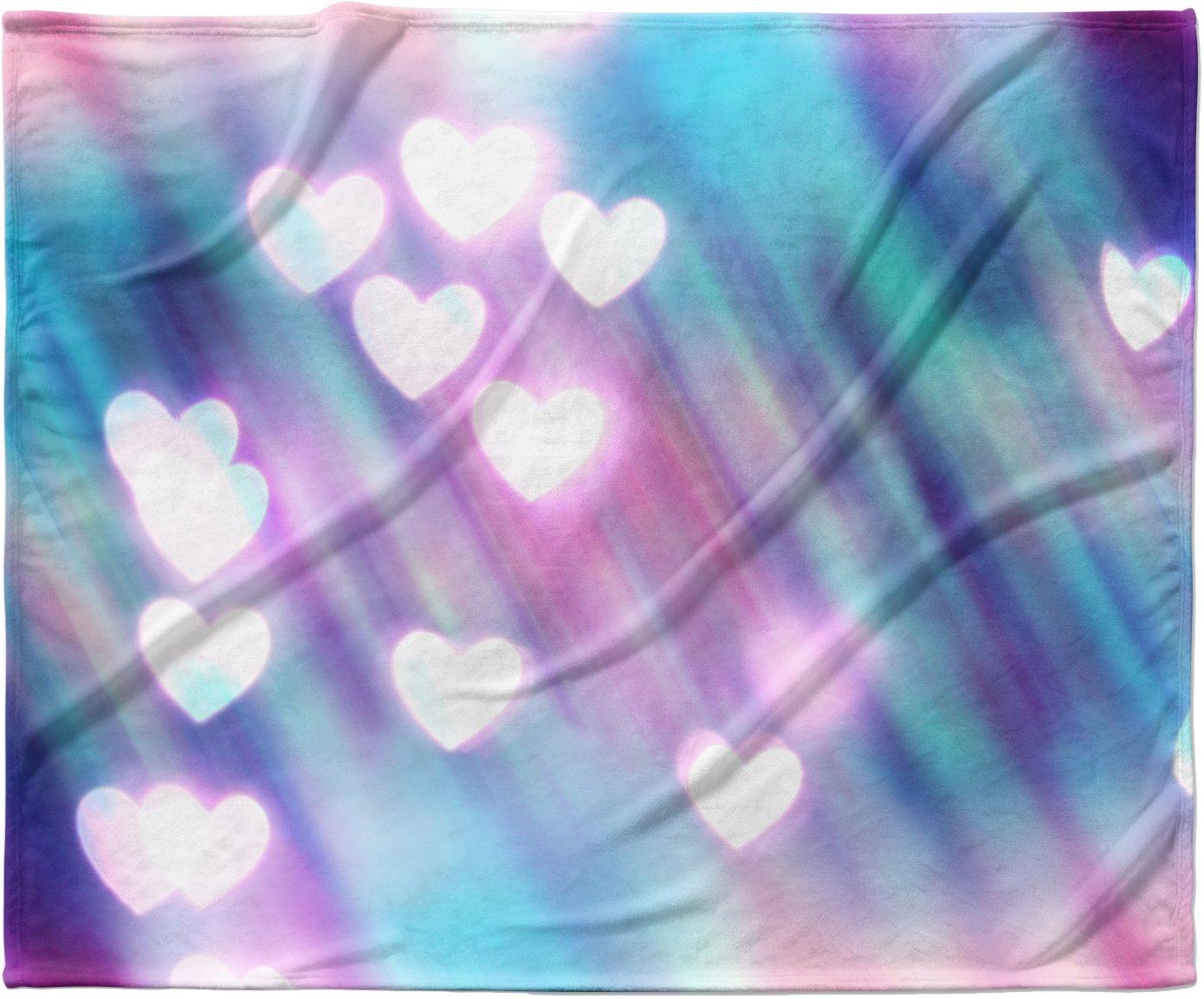 KESS InHouse Beth Engel Your Love is Sweet Like Candy Heart Fleece Baby Blanket 40 x 30