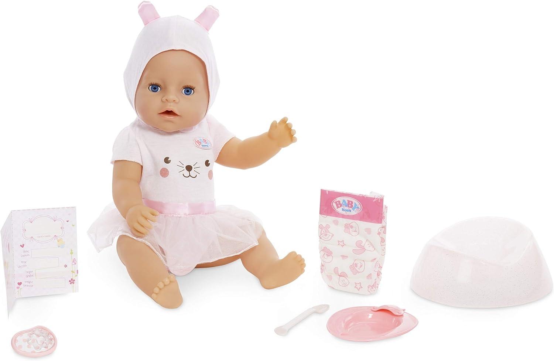 Baby Born Interactive Doll – Blue Eyes with 9 Ways to Nurture