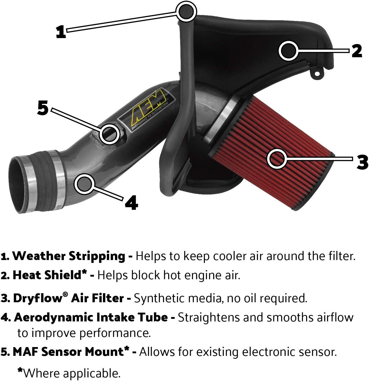 AEM 21-447B Blue Cold Air Intake System