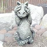 Little Darling Dragon Baby 'Peek-A Boo' - Solid Cast Stone Garden Statue - a Great Home or Garden Idea - Durable, Lifelike Sculpture - Fun Exterior and Interior Art