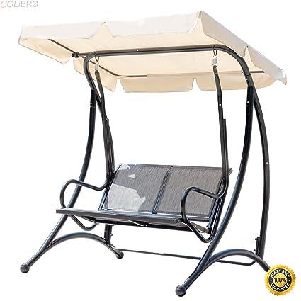 Amazon Com Colibrox Outdoor 2 Person Patio Swing Canopy Hammock