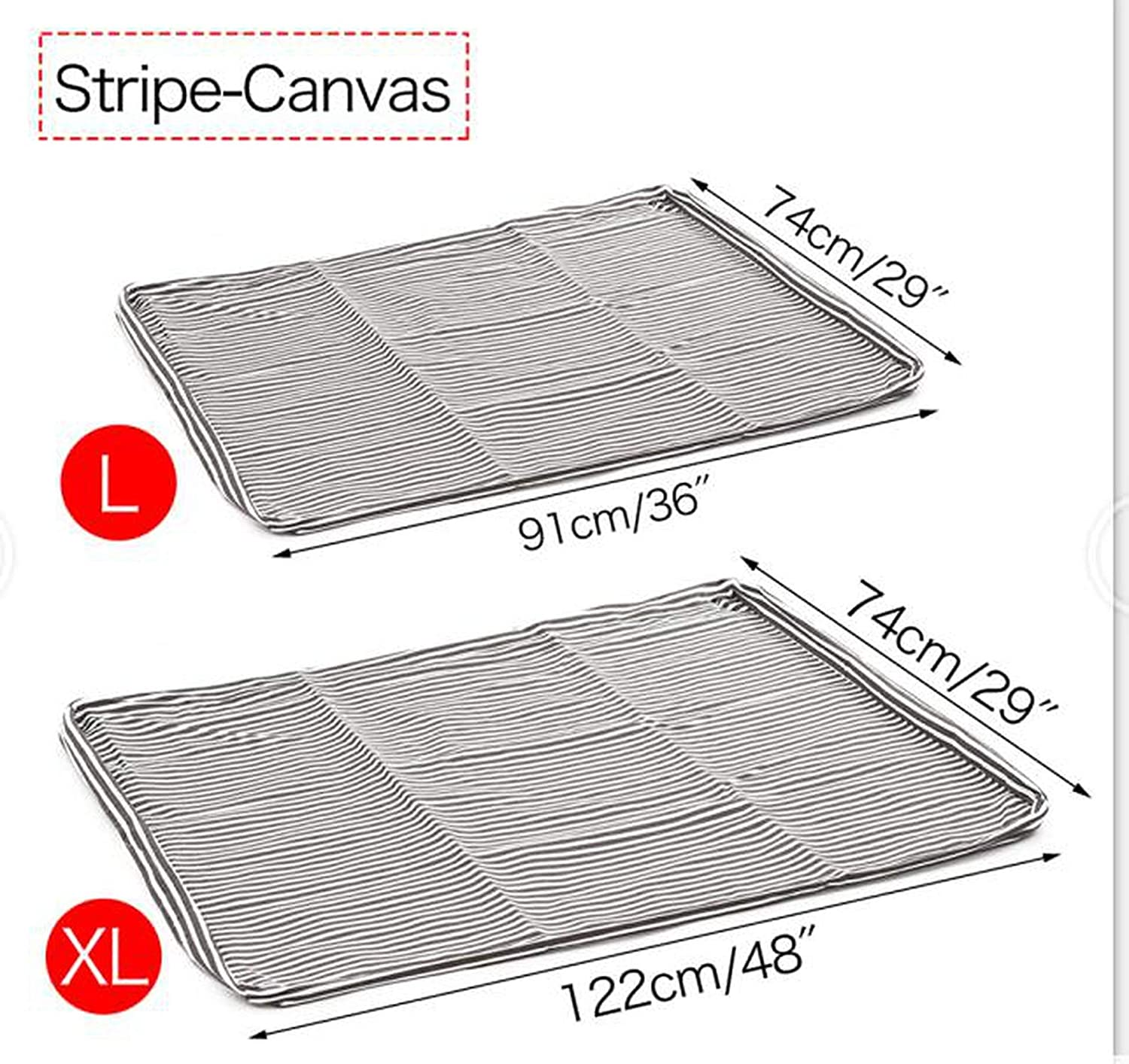 Canvas stripe 91x74cmPet Replacement Dog Bed Cover Reversible Washable Kennel Mat Cozy Warm Nest Bed Cover Soft Warm Cushion Cover for Dog Cats,Denim bluee,122X74Cm