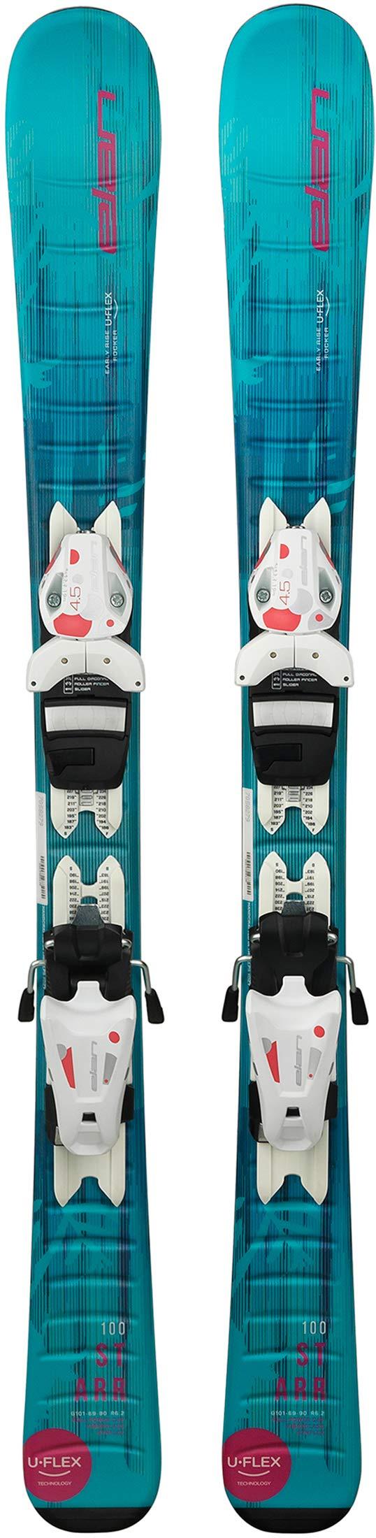 Elan Starr QS Ski with EL 4.5 AC QS Binding - Kids' One Color, 90cm by Elan
