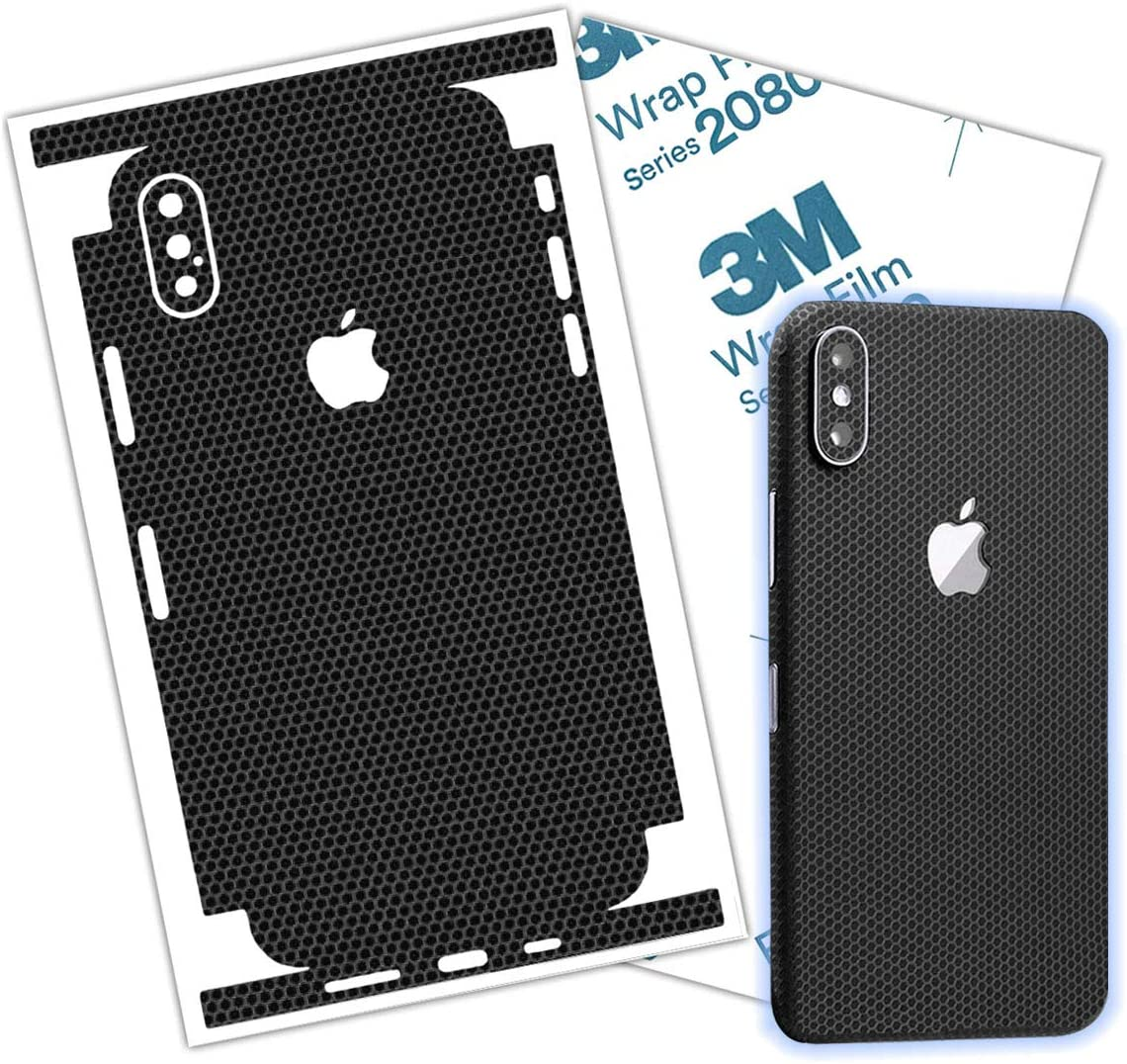 Black Matrix iPhone X, Xs, XR, XsMax, Skin Wrap Protective Around Borders and Back Elegant Thin 3D Skin Made with 3M 2080 Film (iPhone Xs)