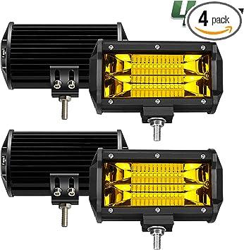 4pcs 5Inch 288W LED Off Road Work Light Bar Spot Beam Driving Fog Lights Lamps