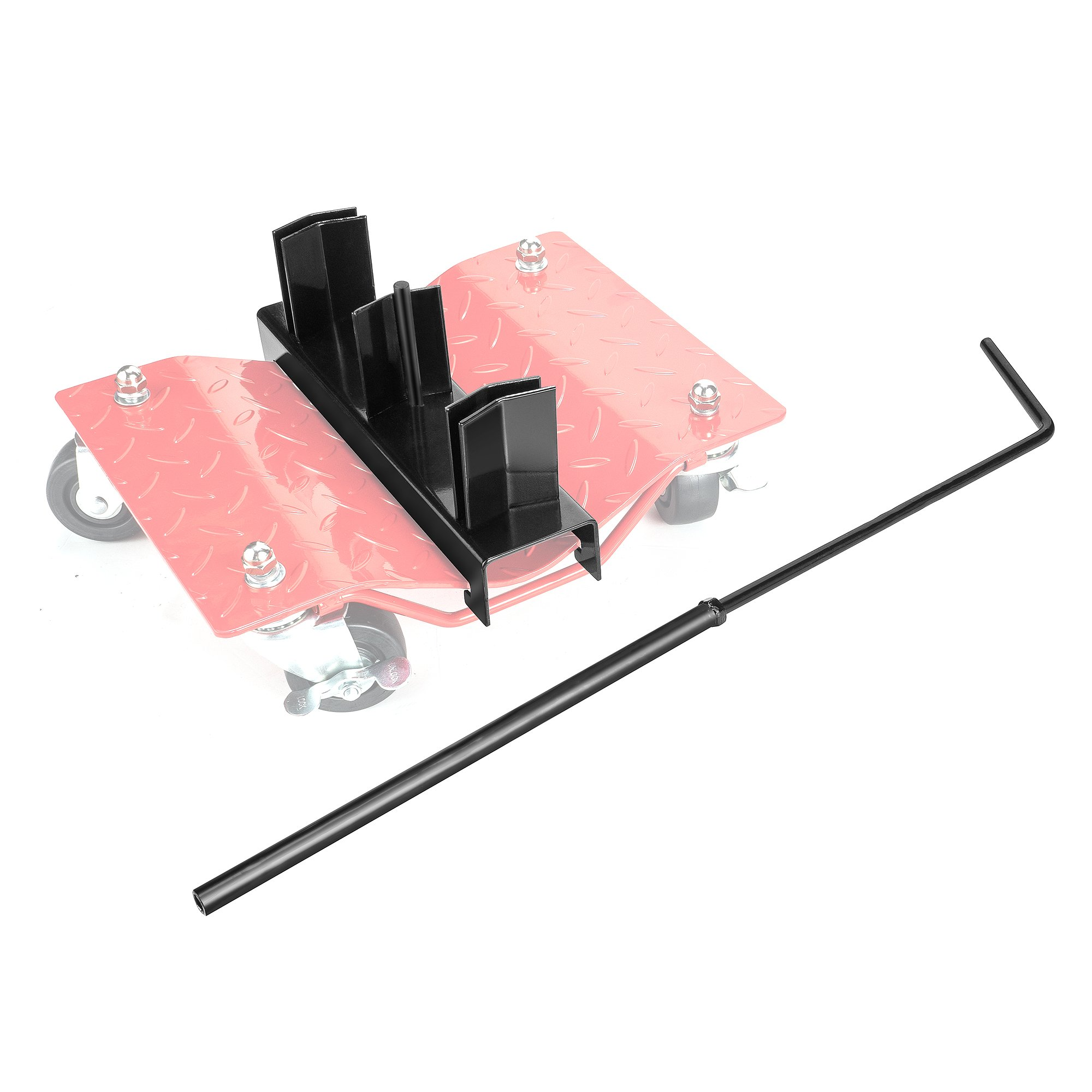 Pentagon 83-DT5506 Tool | Tire Skate-Wheel Dolly Rack | with Handle | Black