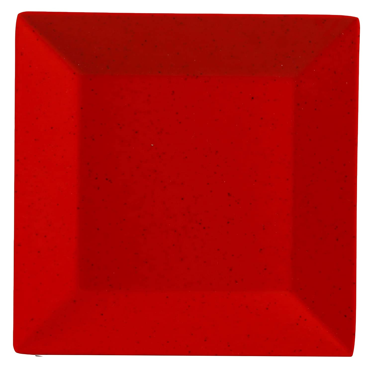 Yanco Me 106 Mexico Plate Square 6 Length 6 Width Melamine Red Color With Black Speckled Pack Of 48 Industrial Scientific