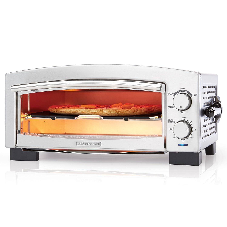 BLACK+DECKER P300S 5-Minute Pizza Oven & Snack Maker, Pizza Oven, Toaster Oven, Stainless Steel Black & Decker