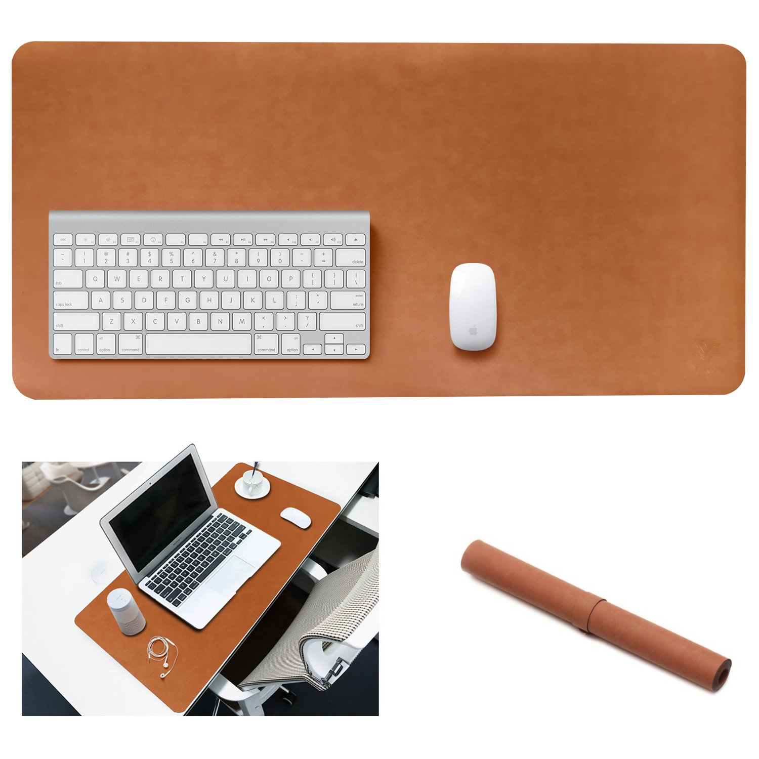 Yikda Extended Leather Mouse Pad/Mat, Large Office Writing Gaming Desk Computer Leather Mat Mousepad,Waterproof,Ultra Thin 1.2mm - 31x15.5 4328338700