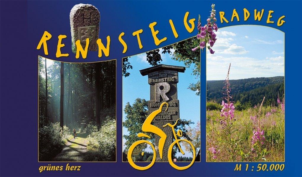 Rennsteig-Radweg Spiralo: Von Hörschel nach Blankenstein. Maßstab 1:50.000. (Radfernwege)