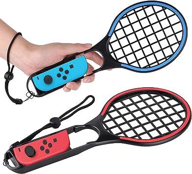 Pala de Tenis para Nintendo Switch Joy-con Attachment – Nintendo Switch Joy-con Controller, Mario Tennis Aces Accesorios, Paquete Doble: Amazon.es: Electrónica