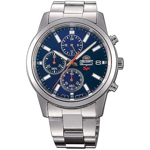 Orient Reloj Cronógrafo para Hombre de Cuarzo con Correa en Acero Inoxidable FKU00002D0: Amazon.es: Relojes