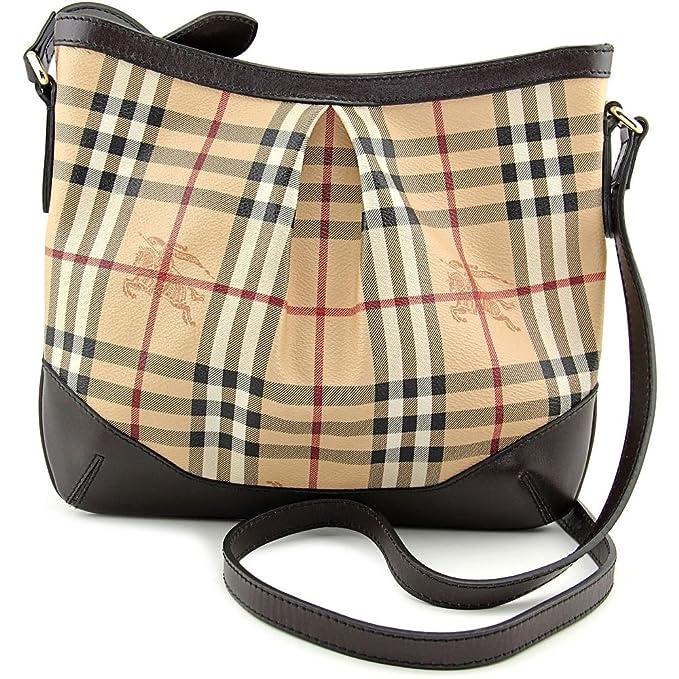 9dbff01c0c1 Burberry Small Haymarket Check PVC Crossbody Bag 3690370: Amazon.ca ...