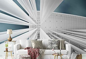 Papel tapiz fotomural pilastri soffitto piastrelle prospettiva