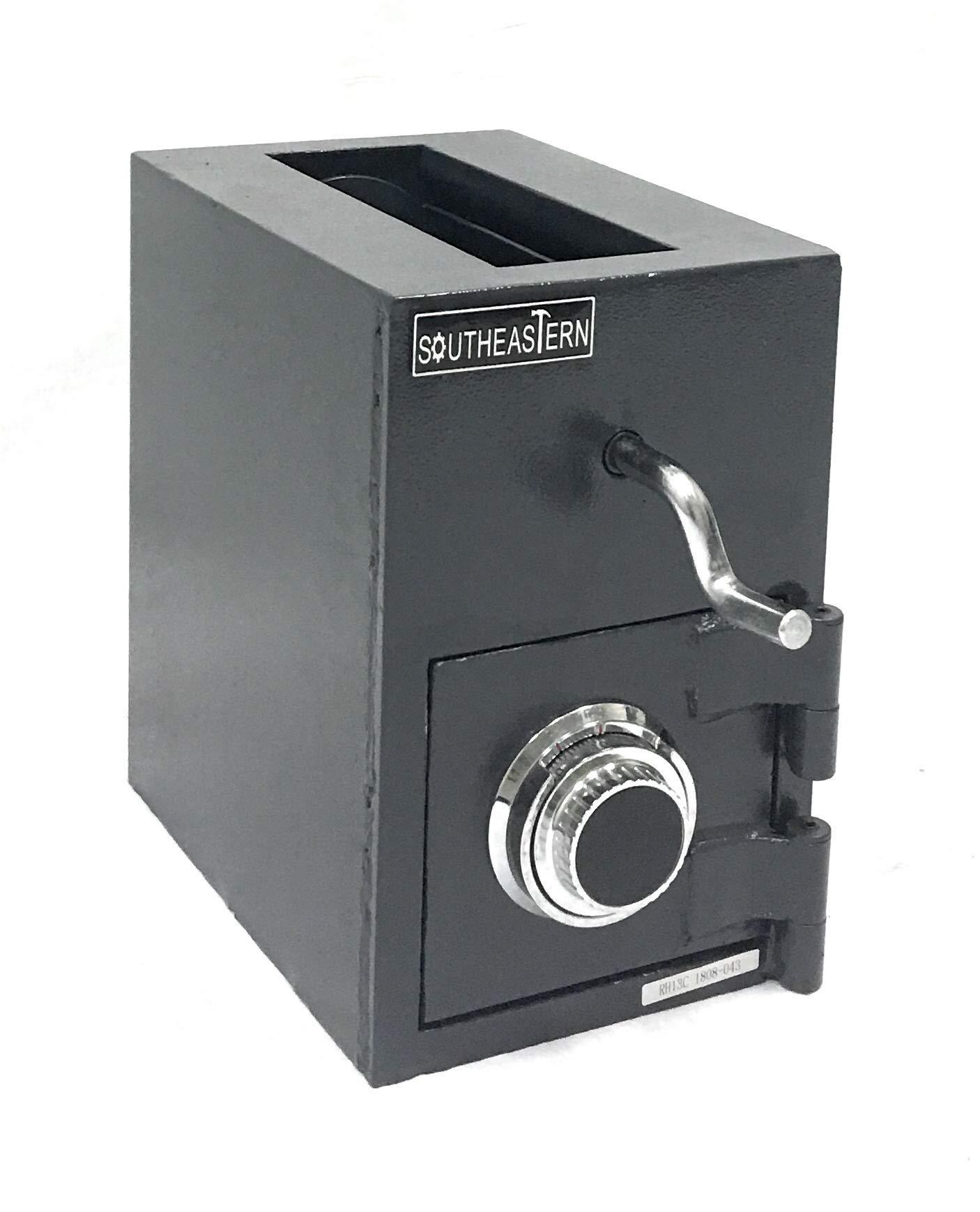 SOUTHEASTERN RH1309C Top Loading Drop Slot Depository Safe w/Dial Combination Lock by Southeastern