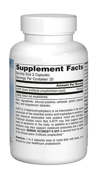 Source Naturals - 5-HTP L-5 hidroxitriptófano 50 mg. - 60 cápsulas: Amazon.es: Salud y cuidado personal