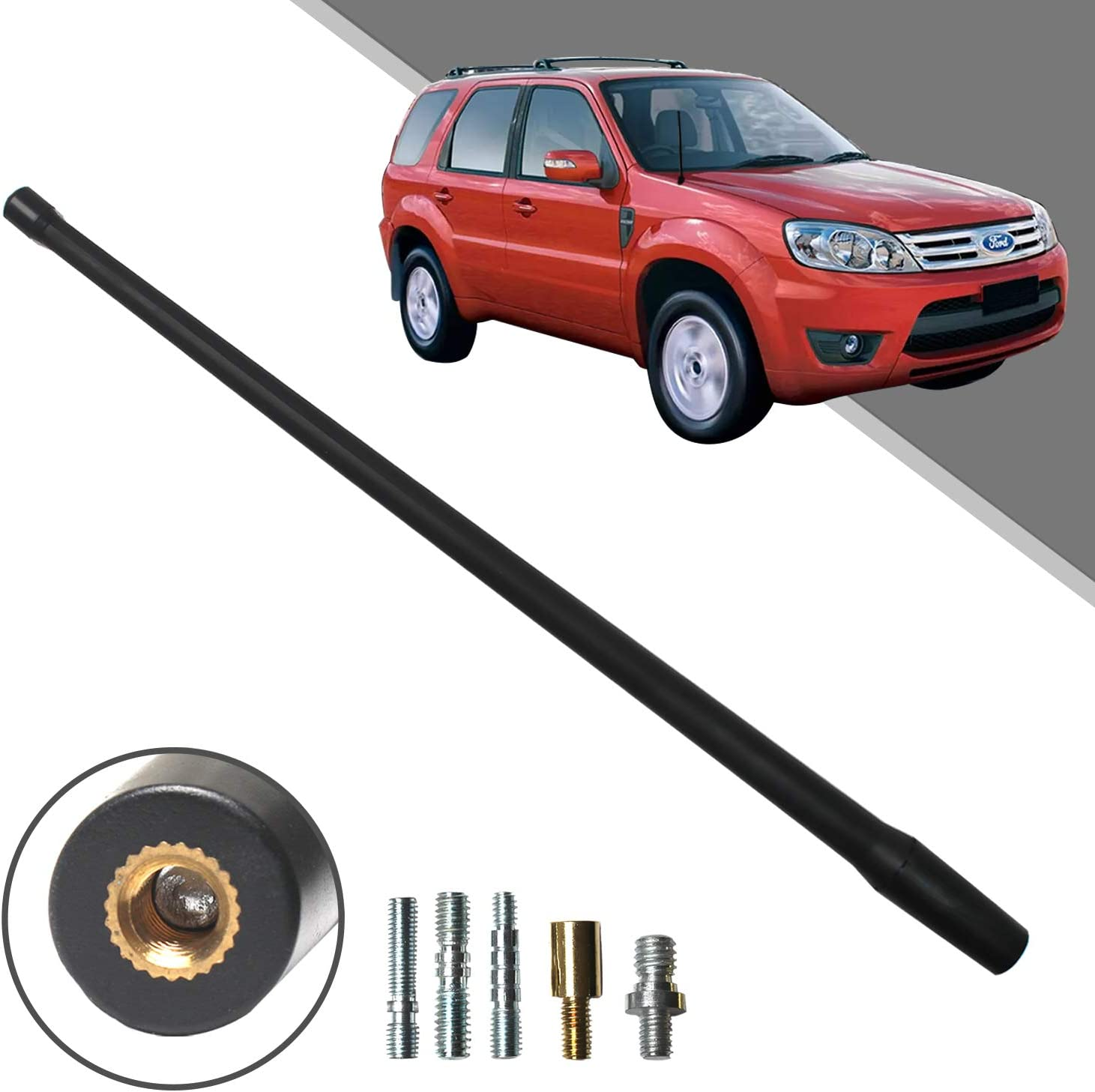Optimized FM//AM Reception. Beneges 13 Inch Flexible Rubber Replacement Antenna Compatible with 2001-2012 Ford Escape